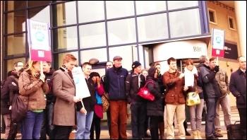 Striking in Southampton, BBC staff in NUJ & Bectu