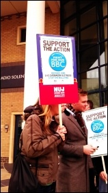 Striking in Southampton, BBC