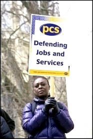 PCS strike on budget day, 20 March 2013 , photo by Paul Mattsson