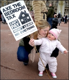Glasgow demonstration against the bedroom tax and austerity 30 March 2013 , photo Jim Halfpenny