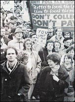 March against the Poll Tax, photo by Militant