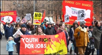 Glasgow demonstration against the bedroom tax and austerity 30 March 2013 , photo by Jim Halfpenny