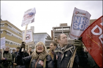 NHS demonstration to save the Whittington hospital in north London,16 March 2013 , photo Paul Mattsson