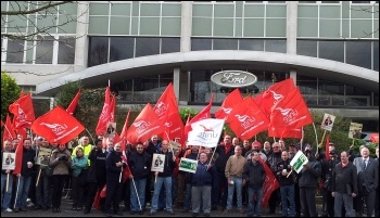 A national mobilisation is needed of all car workers who face closures and redundancies, photo P Mason