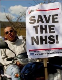 Demo to save services at Dewsbury hospital, 20.4.13, photo by John Rattigan