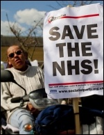 Demo to save services at Dewsbury hospital, 20.4.13, photo John Rattigan