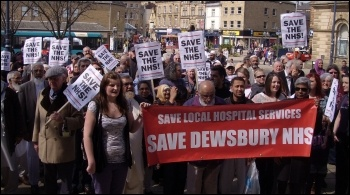 Save our local hospital services (SOLHS) demonstration, held on Saturday 20 April 2013 in Dewsbury, photo by Dawn Wheelhouse