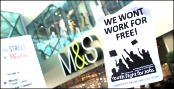 Youth Fight for Jobs Workfare protest Feb 2012