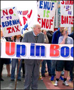 On the march in Bootle against the Bedroom Tax, photo by  Socialist Party
