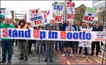 On the march in Bootle against the Bedroom Tax, May 2013, photo  Socialist Party
