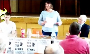 Sue Atkins, Southampton council TUSC candidate, photo Southampton Socialist Party