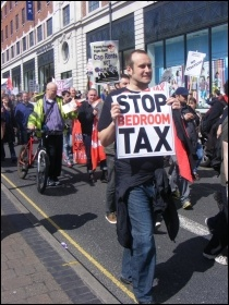 Leeds  Anti-Bedroom tax demonstration, photo Mid Shelley