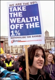 We are the 99% - Take the wealth off the 1%, photo Paul Mattsson