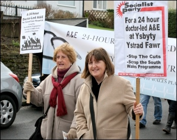 Caerphilly march to save the A&E, photo Becky Davis