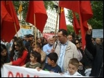 Demonstrating in London against brutality by the security forces in Turkey, photo C. Newby