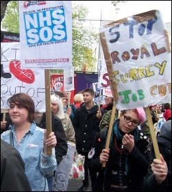 London march to save the NHS, 18.5.13 , photo by Dave Carr