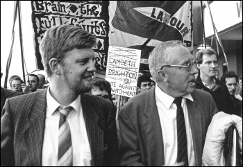 Terry Fields and Dave Nellist - two Militant MPS, photo by Dave Sinclair