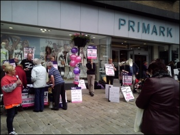 Strike rally against job losses at Chesterfield College , photo by Asif Ali