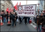 The NSSN in action protesting against blacklisting at a Crossrail site in London, photo Paul Mattsson