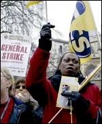 PCS strike on budget day, 2013, photo Paul Mattsson
