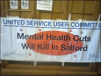 Salford United Service Users Committee banner