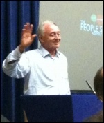 Ken Livingstone speaking in the PA session on Economics, 22.6.13, photo J Beishon
