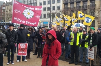 PCS national strike on Budget Day, 20 March 2013, Yorkshire, photo Iain Dalton