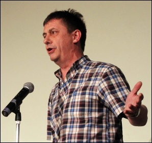 Chris Baugh speaking at NSSN conference, 29.6.13 , photo by Senan