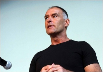 Tommy Sheridan speaking at NSSN conference, 29.6.13, photo by Senan