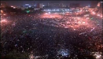 Mass protest in Egypt 1 July 2013 calls for the president to resign, photo Screen shot from video released from Military