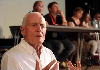 Tony Mulhearn addressing NSSN conference June 2013, photo Senan