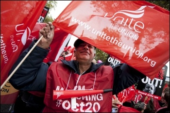 Marching against austerity on 20 October 2012, photo Paul Mattsson