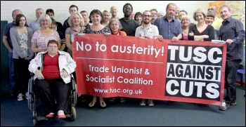 Waltham Forest trade Unionist and Socialist Coalition meeting , photo Senan