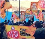 London firefighters' demonstration, January 2013, photo N Cafferky
