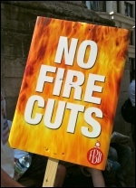 London FBU demonstration against cuts, 18.7.13, photo J Beishon