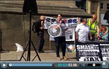 Newcastle anti-bedroom tax demo, photo Paul Phillips