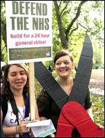 Nurses protest on the 20 October 2012 TUC demo, photo by Senan