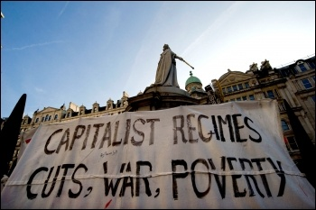 Anti-capitalist protest outside St Pauls in London following the Wall Street protests - We are the 99% , photo Paul Mattsson