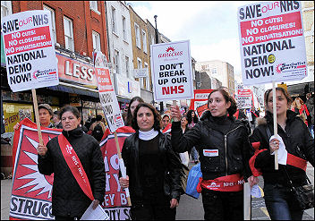NHS demonstration March 3rd 2007, photo Paul Mattsson