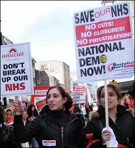 NHS demonstration March 3rd 2007, photo Paul Mattsson