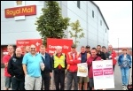 Royal Mail's Coventry North Delivery Office  taking 24-hours of strike action on Tuesday 27 August., photo Dave Nellist