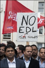 Anti-EDL demo, East London, 7.9.13, photo by Paul Mattsson