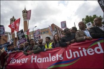 Anti-EDL demo, East London, 7.9.13, photo Paul Mattsson