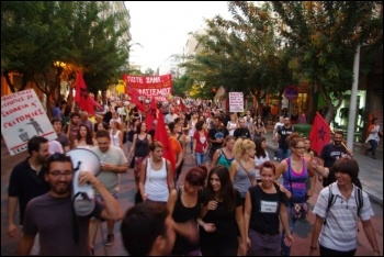 Anti-government demo at Thessaloniki, Greece, September 2013, photo Xekinima