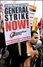 TUC demo 26 March 2011 - for a 24 hour General Strike now, photo Senan