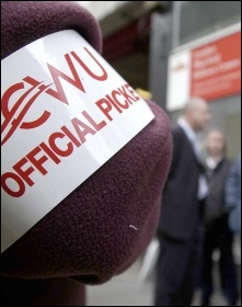 CWU members want action against Royal Mail's pension attacks, photo Paul Mattsson