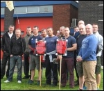 Firefighters on strike in Warrington, photo Andy Ford