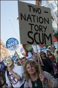 TUC demo in Manchester: 50,000 march against Tories demanding action on NHS, photo Paul Mattsson