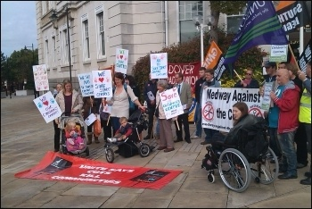 Demonstration against cuts to Sure Start centres in Kent