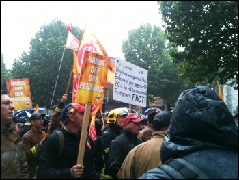 FBU demo, London 16.10.13